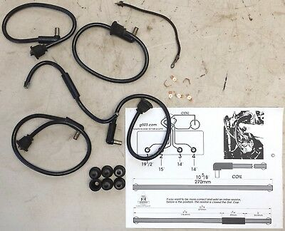 Jeep WWII Mil Willys MB, Ford GPW L134 Original Ignition Wire Kit US Made, G503