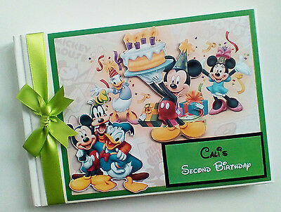 Disney Clubhouse Boy/girl /first/1St Birthday Guest Book Any Design
