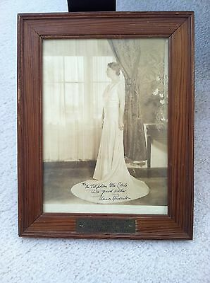 """VAL-KILL made FRAME from """"White House WOOD"""" - Eleanor Roosevelt signed PHOTO"""