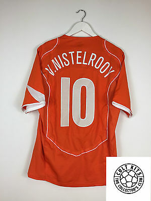 Holland VAN NISTELROOY #10 04/06 *LTD EDITION PLAYER ISSUE* Football Shirt (L)