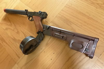 Mgc Rmi P08 Luger Model Gun Replica Fake Suppressor Silencer