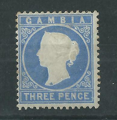 Gambia 1881 QV 3d SG14cB Flaw on Neck Mint
