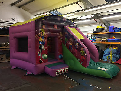 Disco themed Bouncy Castle with slide by Air Inflatables. Good Condition.
