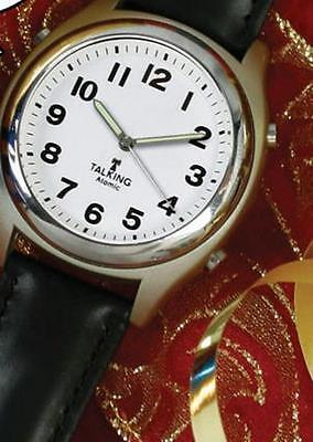 ATOMIC! Talking Analog Watch for the Blind w/Alarm,Speaks Time, Day,Date,#1360