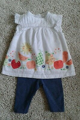 Baby girl tunic and leggings outfit by TU, age 0-3months