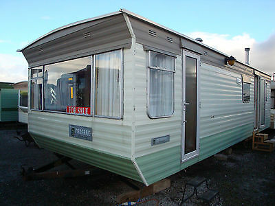MOBILE STATIC CARAVAN FOR SALE,28ft X10ft, 1 BEDROOMS,