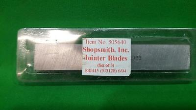 Shopsmith 505640 Jointer Blades Set Of 3 (Ss2011401)