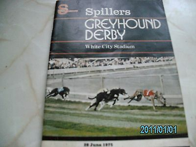 1975 GREYHOUND DERBY RACE CARD.winner TARTAN KHAN