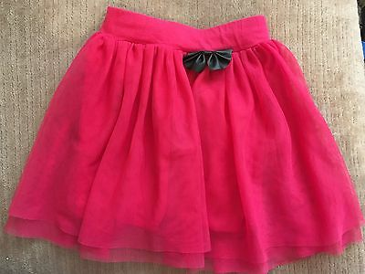 Lovely condition girls tulle pink skirt, size 122 - 5 years