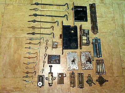 Lot Of Antique Locks And Latches