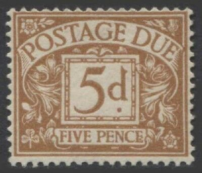 GREAT BRITAIN KGVI 1936 Postage Due 5d Scott J23a  SGD24  Lightly Hinged cv £90