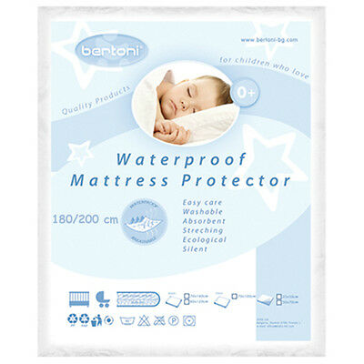 LORELLI WATERPROOF BABY MATTRESS PROTECTOR 180/200 washable cover bed reusable