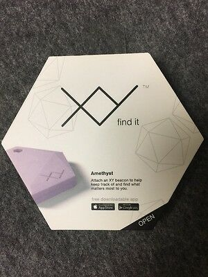 XY Find It XY2 Second Generation Bluetooth Item Finder Amethyst Color New