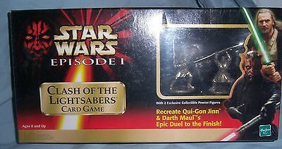 """1999 - NEW RESEALED """"STAR WARS - CLASH of the LIGHTSABERS CARD GAME BOX"""