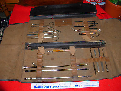 RARE VINTAGE ANTIQUE SURGICAL EMBALMING SET INSTRUMENTS Civil War and Late 1800s