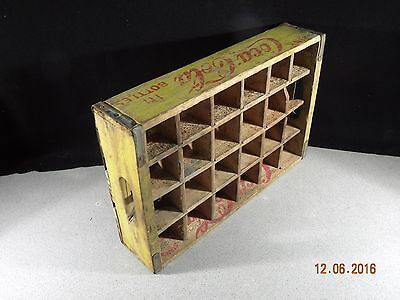 Vintage Coca Cola Wood Crate with dividers 1960's