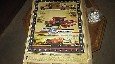 DON PRUDHOMME  SIGNED 2014 BARRETT JACKSON POSTER 24 BY 36     NHRA  Diecast