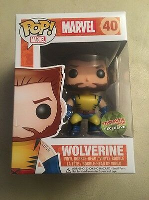 Unmasked Wolverine Toytastik Exclusive Funko Pop! Marvel #40 w/Pop Protector