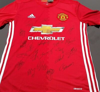 Manchester United Personally Hand Signed 2016/2017 Jersey Plus Coa Ibrahimovic