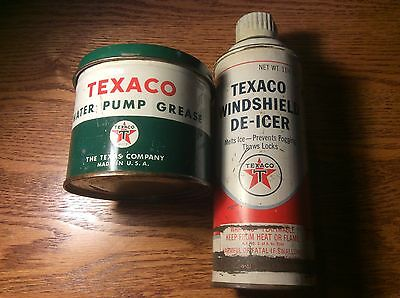 Texaco Water Pump Grease & Windshield De-icer Can