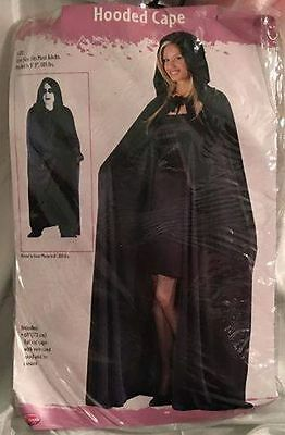 Hooded Cape - Black / 68 inch / NEW