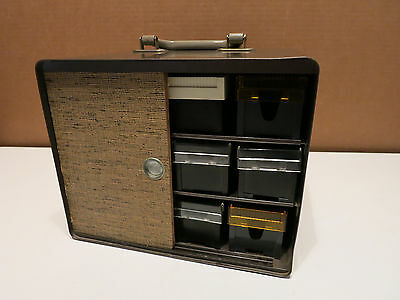 Vintage Bell & Howell Micro-fit Slide Trays and Slide Carrying Case Storage Box