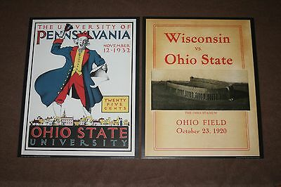 Ohio State Buckeyes Vintage Game Day Football Posters