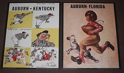 Auburn Tigers Vintage Football Game Day Program Posters