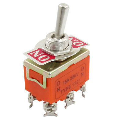 DPDT 6 Screw Terminals ON/ON 2 Position Toggle Switch AC 250V 15A Evswx