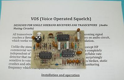 VOS (Voice Operated Squelch) Audio Muting Kit Form