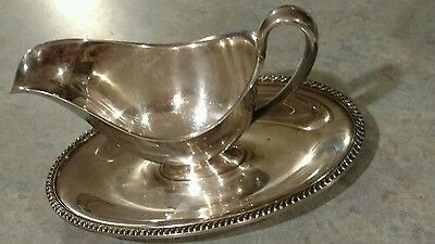 Beautiful Vintage Wm Rogers AVON Silver Plated Gravy Sauce Bowl