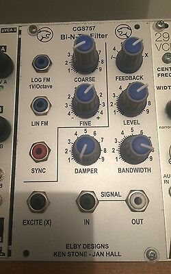 Elby Bi N Tic Filter / VCO - CGS747 Eurorack Synthesizer Module Pro Built