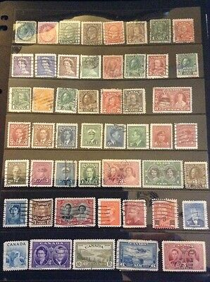 Canada - Large Collection Used Issues Inc Recent And HV Stamps (8 Pages)