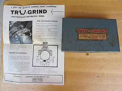 Vintage TRU-GRIND Crankshaft Reconditioning Tool -  Made in Australia