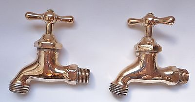 Brass Water Spigots Royal Clev'd -Antique steampunk Vintage polished