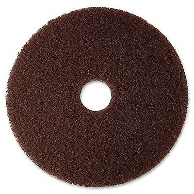 """3M 20"""" Low-Speed High Productivity Floor Pad 7100 Brown 5 count"""