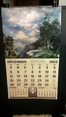 Santa Fe Railroad Calendar Wall Santa Fe 1983 New Unused
