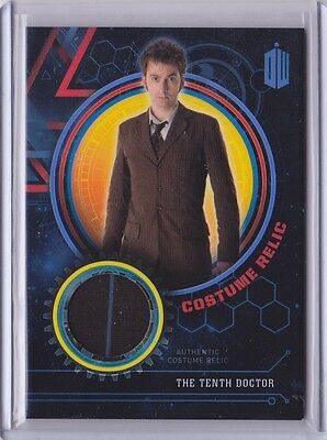 2016 Topps Doctor Who Encounters The Tenth Doctor Costume Relic /99