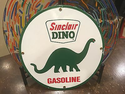 classic SINCLAIR DINO GASOLINE - heavy DUTY 18 GAUGE metal porcelain sign