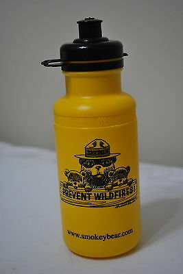 Yellow Smokey the Bear Prevent Wildfires Plastic Water Bottles - NICE!!!