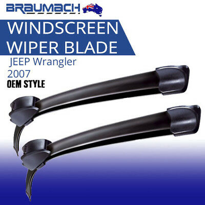 Suit JEEP Wrangler 2007 on (JK) - Aero Design Windscreen Wiper Blades (PAIR)