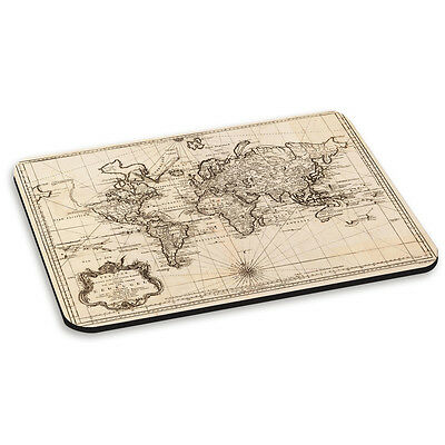 Vintage Old World Map #2 Retro PC Computer Mouse Mat Pad