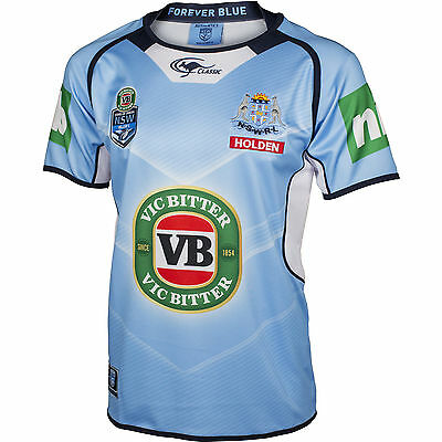 NSW Blues State of Origin 2016 Jersey Adults , Size S-3XL