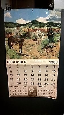 Santa Fe Railroad Calendar Wall Santa Fe 1984 New Unused