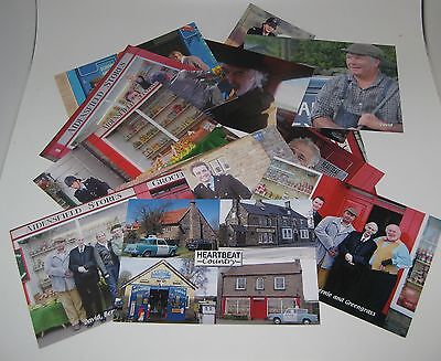 HEARTBEAT TV POST CARDS x 12 David Bernie Claude Oscar PC Rowan  Aidensfield UK