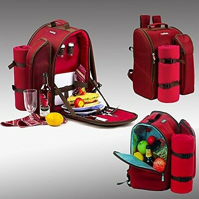 Apollowalker Picnic Backpack Bag for 2 Person With Cooler Compartment,