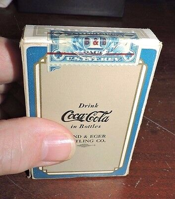Rare Original 1930's Blue & Grey Hund & Eger Coca-Cola Pinochle Playing Cards