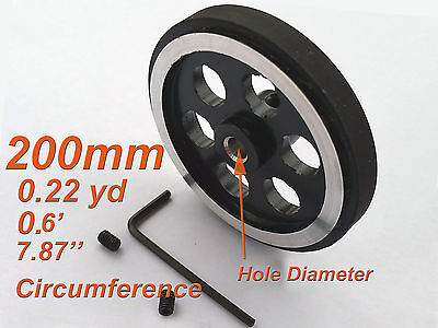 1 Pc Circumference 200mm 0.22yd 7.87'' Length Measure Wheel Hole Diameter 10mm