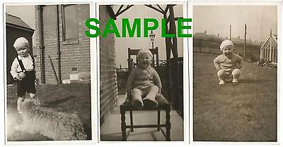 3 Real Photograph Postcards From The 1930's Jerome Ltd Showing A Young Boy