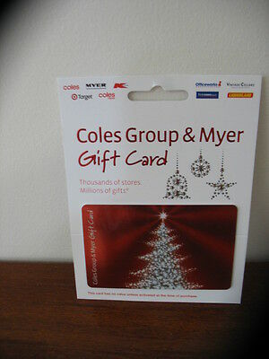 """""""COLES / MYER""""  $50.00  GIFT VOUCHER - Get Ready for Christmas"""